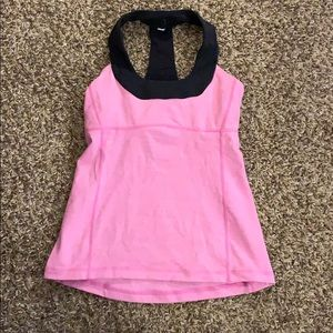 Pink LULULEMON athletic Tank Top Size 6